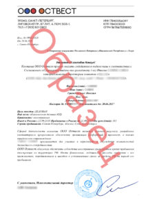 Example – Invitation from Russian company