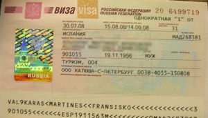 Types of visas to Russia