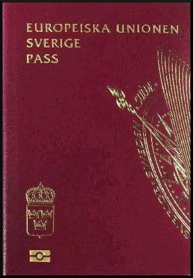 Паспорт Швеции