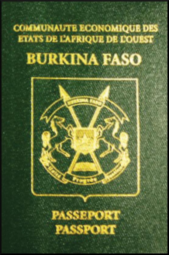 Паспорт Буркина-Фасо