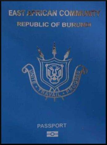 Паспорт гражданина Бурунди