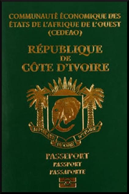Паспорт Кот-д'Ивуара