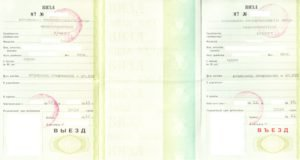 Temporary resident visa to Russia
