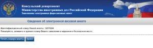 Заполнение электронной визовой анкеты - шаг 3