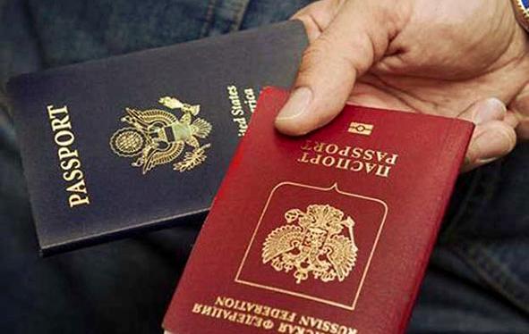 Паспорт США и России